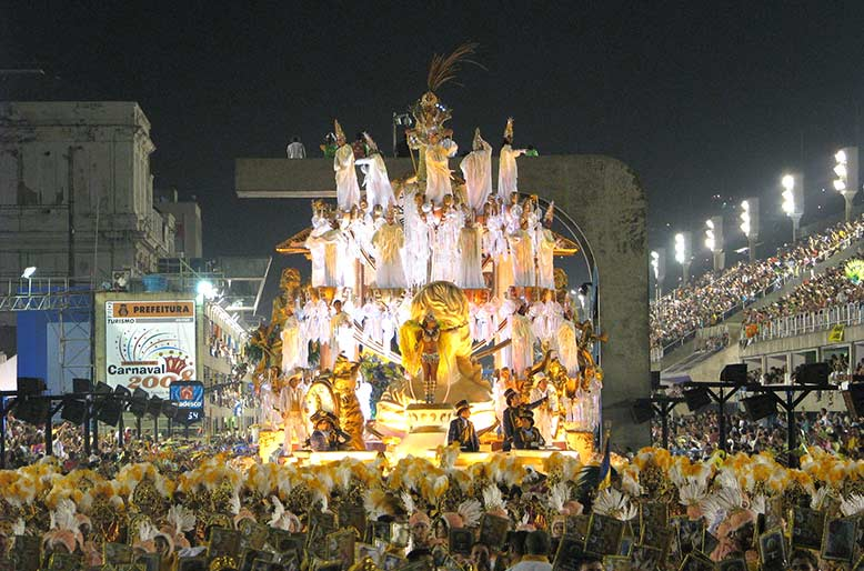 Float at the Rio Carnival.