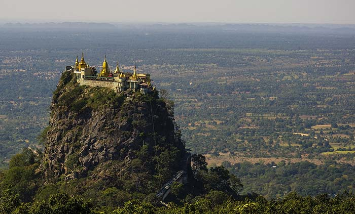 Mount Popa, Central Myanmar.
