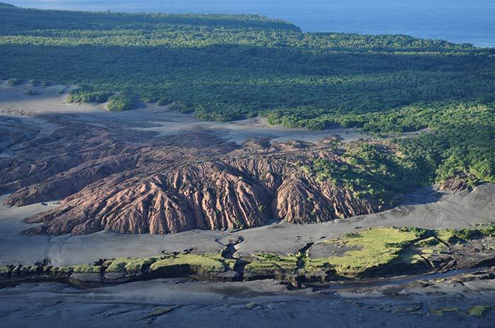 Old lava flows - Mt Yasur, Vanuatu.
