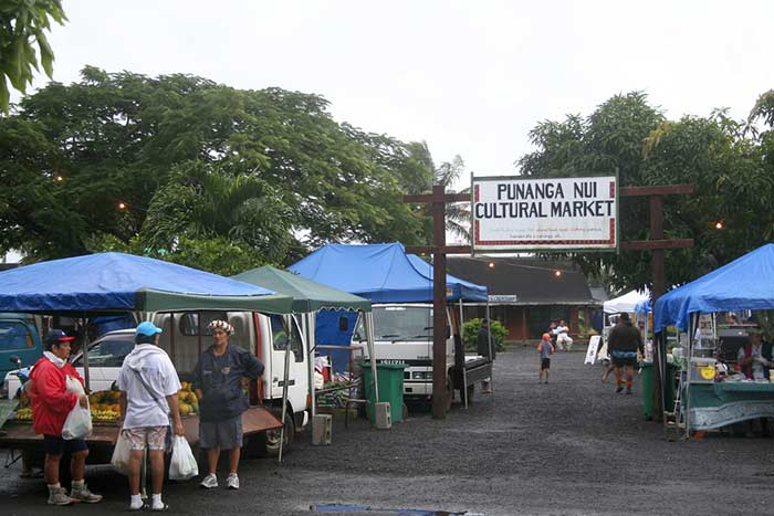 Punanga Nui market. Cook Islands.