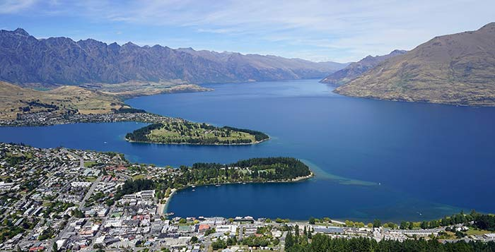Lake Wakatipu, Queenstown, New Zealand.