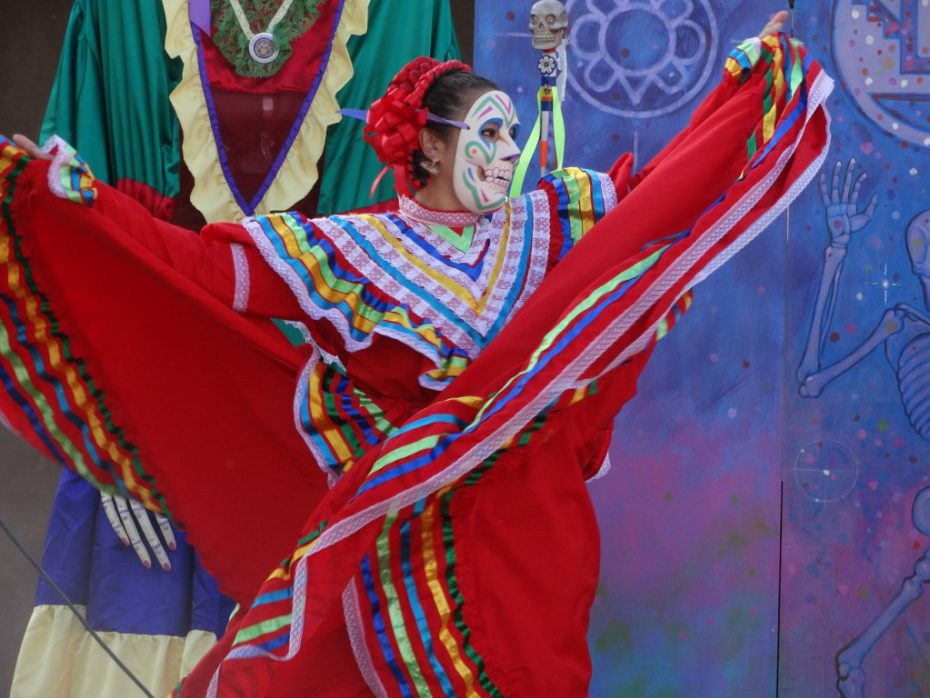 Lady at Day of the Dead festival.