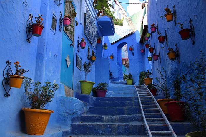 The blues of Chefchaouen, Morocco.
