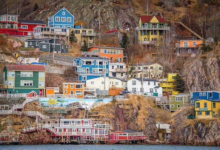 The houses of St John's in Newfoundland and Labrador, Canada.